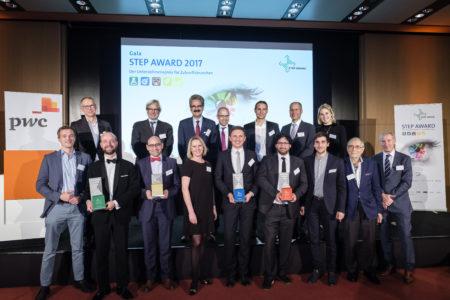 Die Preisträger, Finaliste und Laudatoren des STEP Awards 2017